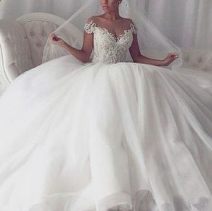 Dresses & Skirts - Gorgeous lace and organza ball gown